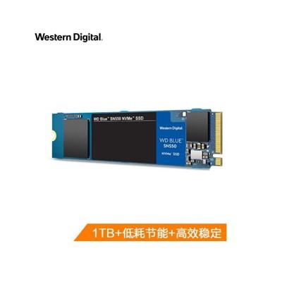 西部数据(Western Digital)1T SSD固态硬盘 M.2接口 (NVMe协议)WD Blue SN550 四通道PCIe 高速 大容量